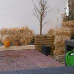 Strohballen Garten