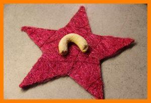 Vanille Kipferl auf einem Stern